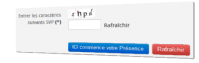 Captcha tradionnel Mind Drop