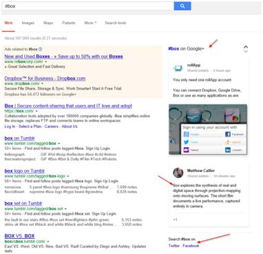 Utililisation du hastag dans Google