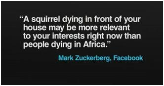 Citation de Mark Zuckerberg, Facebook