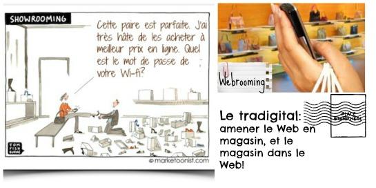 La nouvelle réalité tradigitale: entre webrooming et showrooming!
