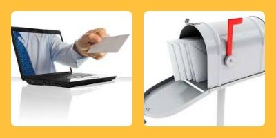 envois courriel ou courrier-présence