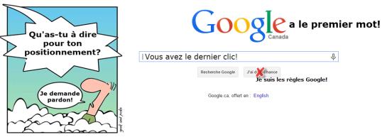 SEO - jugement dernier Google