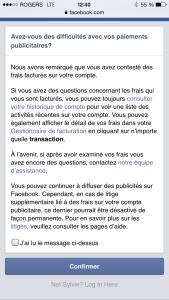 Facebook-avertissement