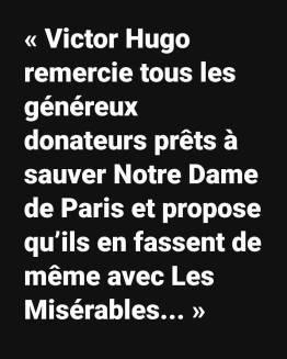 Appel à l'aide Victor Hugo